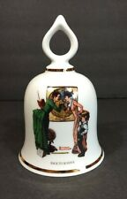 """Vintage Danbury Mint 1979 Limited Edition Norman Rockwell Bell """"Back To School"""""""