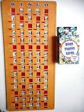 BINGO MASTERBOARD SLIDE CARD WITH NUMBERS 1-75 + DECK OF 75 BINGO CALLING CARDS