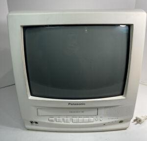 Panasonic PVQ-1300WA TV VHS/VCR Combo White Retro Gaming Television Monitor