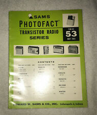 Sams Photofact Transistor Radio Series Volume 53 (1965)
