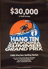 Vtg Hang Ten California Summer Grand Prix 1982 Surfing Poster(surf,Eddie Aikau