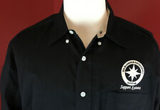 DEVON & JONES Pima Twill Black Button Front Mens Shrt 2XL iBoeing Rotorcraft