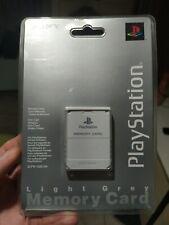 PS1 OFFICIALE Light Grey Memory Card NUOVA Playstation Sony SCPH-1020 EHI RARO