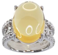 Citrine Gemstone 13.50 carats Dreamy Sterling Silver Ring size N