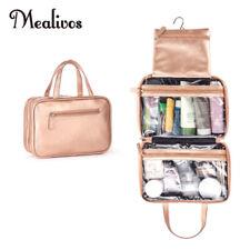 Rose Gold Large Versatile Travel Cosmetic Bag - Perfect Hanging Travel Toiletry