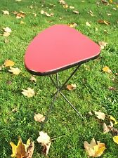 Vintage Tripod Coffee Side Table Mid Century Mod Space Age Triangle Rockabilly