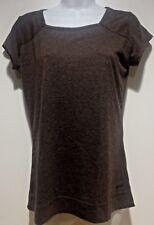 Mountain Equipment Co-op Organic Cotton Top Womens Medium Brown Short Sleeves