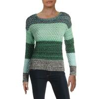 Vince Camuto Women's Textured Knit Colorblock Long Sleeve Pullover Sweater