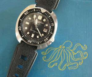 Vintage dive watch 19mm band diver strap 1960s/70s NOS polished buckle 100+ sold