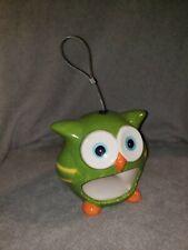 Ceramic Green Owl Bird feeder-new
