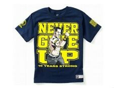 WWE John CENA Navy Blue Shirt Boy's size 4/5 NeW U Can't See Me Two Sided NWT