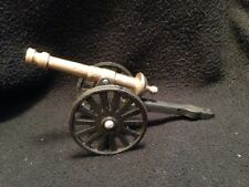 "VINTAGE CAST IRON & BRASS MINIATURE CIVIL WAR CANNON, TILTS & ROLLS 8"" FIGURINE"