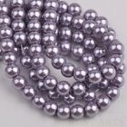 100pcs 6mm Pearl Round Glass Loose Spacer Beads Jewelry Making Purple