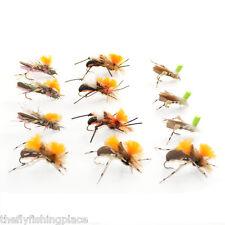 Trout Flies Assortment Dropper Hopper Foam Body Grasshopper 12 Flies 4 Patterns