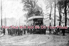 SU 61 - First Tram In Ruskin Road, Carshalton, Surrey c1906 - 6x4 Photo