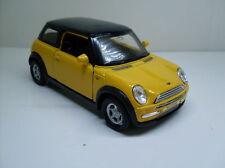 Mini Cooper amarillo, Welly Auto Modelo Aprox. 1:34 - 1:38, Nuevo
