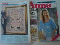 ANNA Burda Spaß an Handarbeiten 5/90 Stickerei auf Pullis Applikationen OCCHI