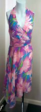 Gharani Strok Multi Colour Summer Dress Size 12 - wedding party holiday stunning