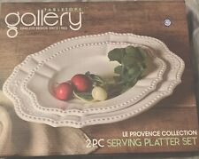 """2 Piece Set Tabletop Gallery Serving Platters 15"""" & 12� Le Provence Collection"""
