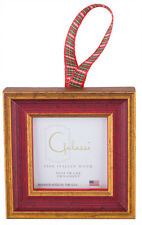 Galassi Fine Italian Wood  Ornament Primary Red Traditional w/plaid  Made  USA