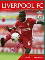 LIVERPOOL v WEST HAM UNITED  31/10/2020 OFFICIAL PROGRAMME! LEST WE FORGET!!!