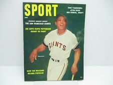 1958 June Sport  Magazine. Willie Mays Cover  Ex. Cond.