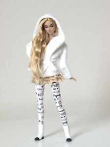 Winter Milk White outfit for Poppy Parker, Nu face by Olgaomi