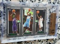 LEBRON JAMES 2003-04 Topps Matrix Triple Rookie Card RC Cavaliers BGS 9.5 MVP