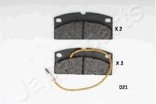 Bremsbelagsatz, Scheibenbremse für Bremsanlage Vorderachse JAPANPARTS PA-021AF