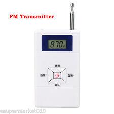 New FM Transmitter 70MHz-108MHz Radio Station Stereo Audio Converter 30m Sender