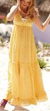 Anthropologie* Porridge* Yellow Long Dress With Little White Lobster Design. XS