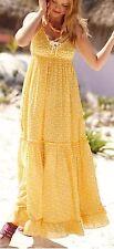 Anthropologie* Porridge* Yellow Long Dress With Little White Lobster Design. XS