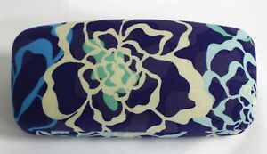 Vera Bradley Hard Large Eyeglass Sunglass Katalina Blue glasses sun case