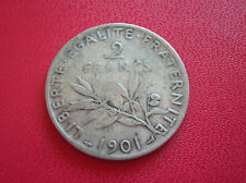 FRANCE  2 francs semeuse 1901  (a132)