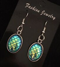Dragon Egg Earrings Mermaid Scale Pendant Game Of Thrones Little Ariel Charm