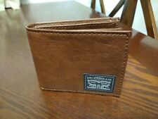 Levi's Men's Leather Bifold Wallet - Brown NWOT