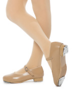 Dance Shoes Mary Jane Buckle Tap Revolution Tan Dark Tan CHILD & ADULT SIZES