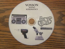 Voxson Audio Repair Service schematics on 1 cd in pdf format