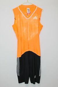 Adidas AZP SL PU Suit Running Sprint Track & Field Speed Suit Size L Orange 2014