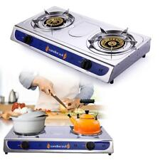 Emergency Portable Propane Gas Stove DUAL Double Burner  Gas Cooker CAMPING