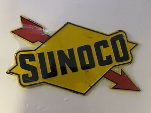 Sunoco metal sign new vintage style embossed garage sign decor NEW