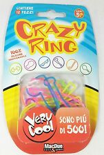 Bracciali Braccialetti Elastici Crazy Ring 12 Pz Forme Colorate MacDue Silicone