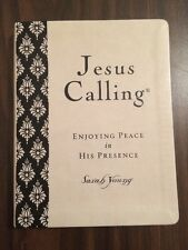 Jesus Calling Large Print Deluxe - $24.99 Retail - Cream Leathersoft -Devotional