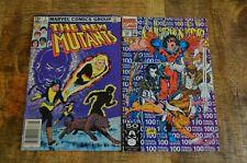New Mutants #1 & 100 (Marvel Comics, 1983 & 1991) FN to VF Lot of 2 Comics