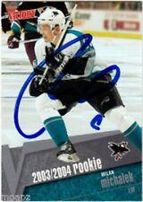 Milan Michalek Autograph 2003-04 Rookie Card RC Maple Leafs