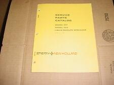 New Holland 301 Amp 303 Liquid Manure Spreader Service Parts Catalog Manual List