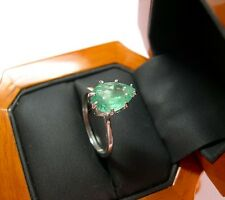 A Natural, 2.15ct Pear Shape Colombian Emerald Solitaaire