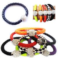 Premium Shamballa Magnetic Bracelet Single Crystal Ball Trendy Disco Ball Cuff