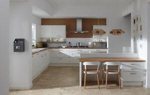 Milbourne Shaker Kitchen, Rigid Built Units, Modern Kitchens in 8 Matt Colours