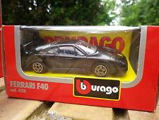 Ancienne BURAGO FERRARI F40 Noire n° 4128 Neuve en boite d'origine